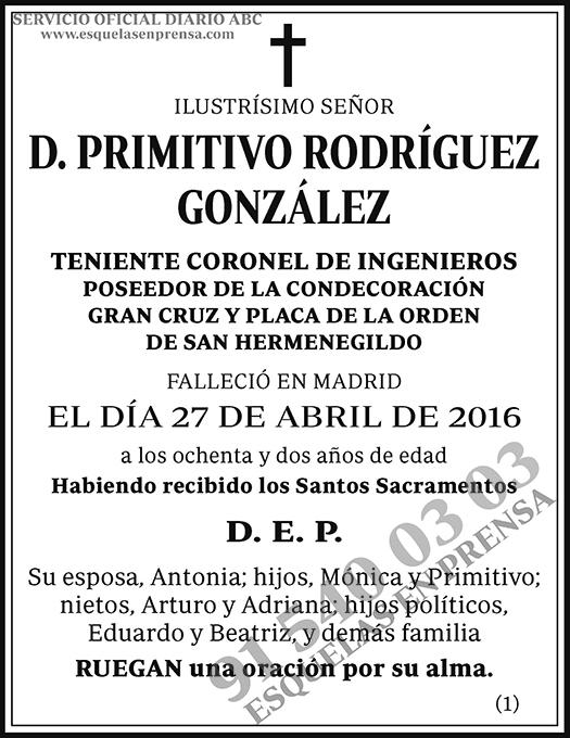 Primitivo Rodríguez González